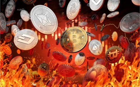 加密货币普跌:比特币下跌超4%,多个主流币跌幅超10%
