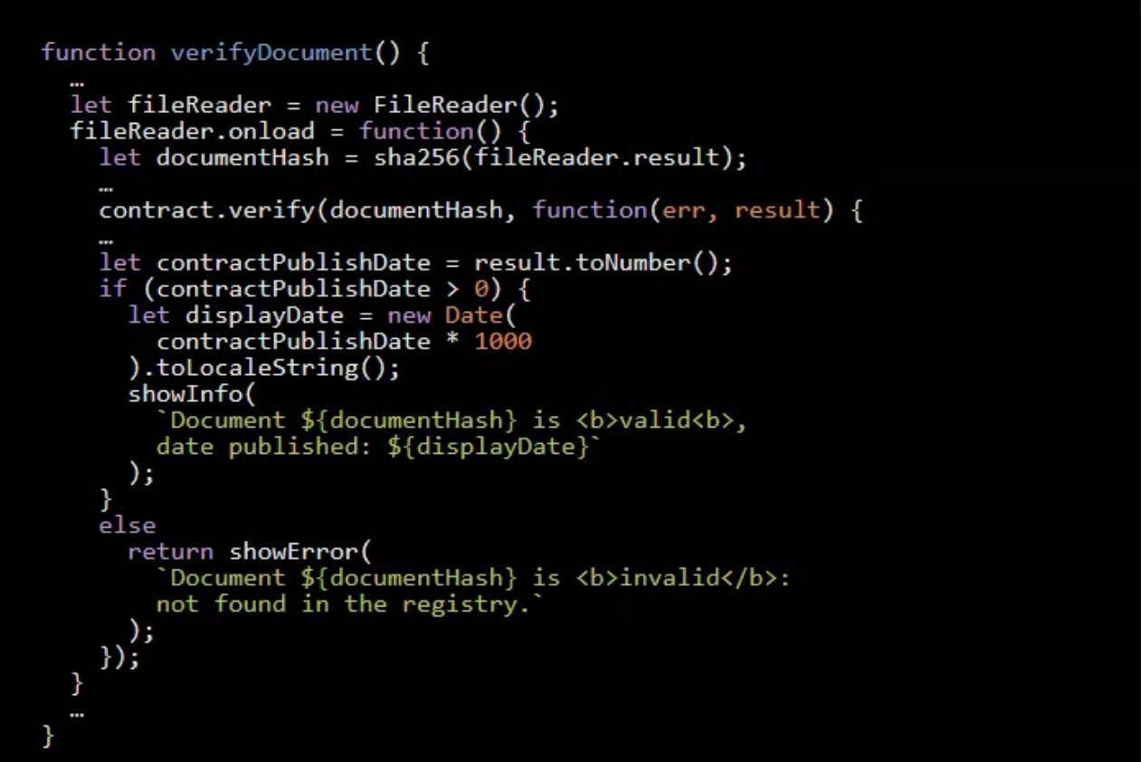 干货 | 几行代码就能撸一个文档注册以太坊DApp