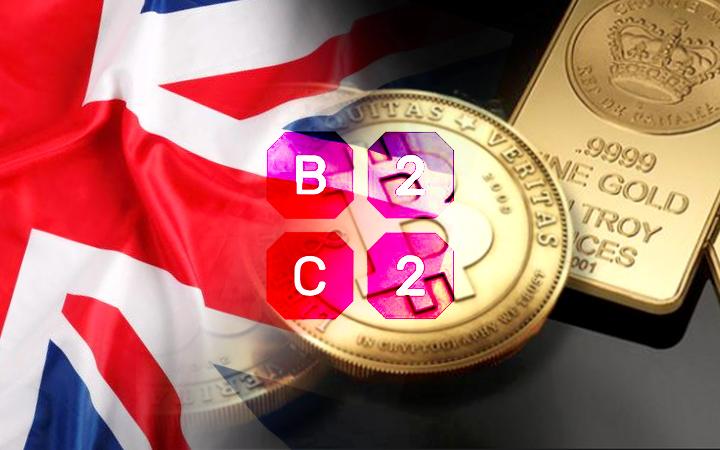 英国B2C2推出黄金衍生产品用于比特币交易