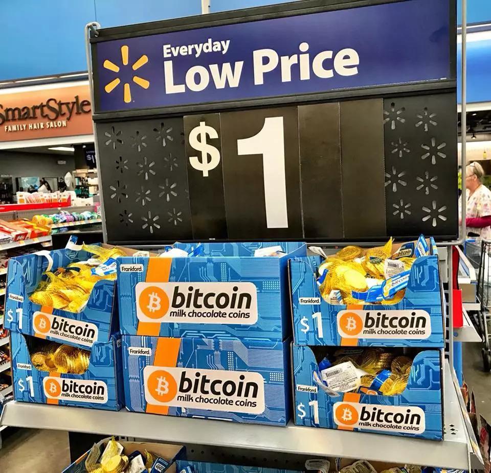"""""""比特币""""只卖1美元,沃尔玛的大促销帮助公众了解比特币"""