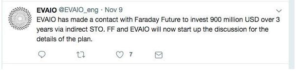 FF回应EVAIO投资:未得到此消息