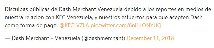 委内瑞拉:在肯德基澄清谣言之后,Church's Chicken接受加密支付