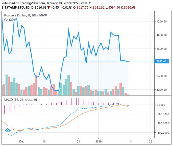 数字货币交易量持续下降,比特币将跌到3000美元以下?