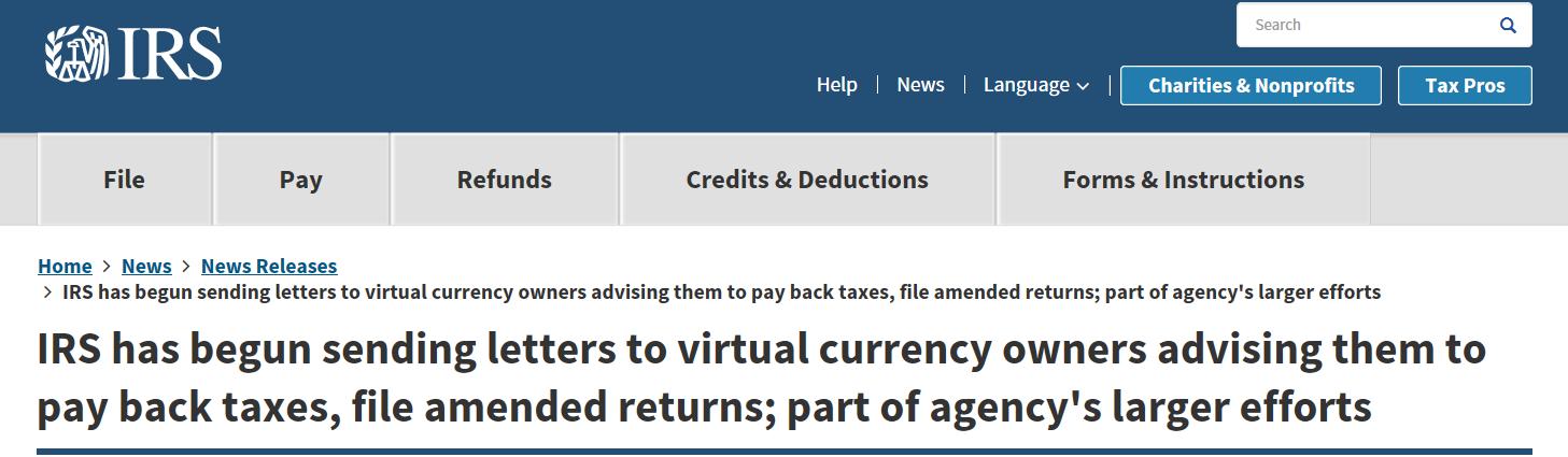 """美国国税局终出手,1万封""""报税教学信""""引市场大跌"""